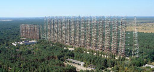 Duga-3. 150 metriä korkea, 750 metriä pitkä.